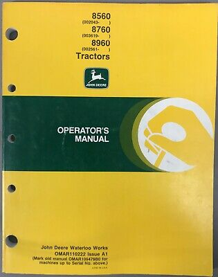 John Deere 8560 8760 8960 Tractors Omar110222 Issue A1 G-1
