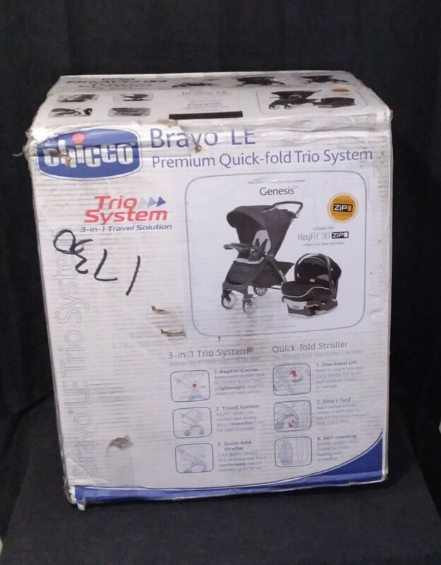 Chicco Bravo LE Trio Baby Travel System-Genesis*Brand New*Last 1(Minor box dam.)