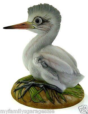 Vintage Baby Egret Porcelain Bird Figurine Collectible By Kazmar #18