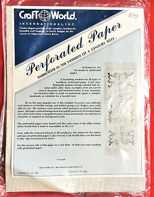Perforated Paper 14-Count White 2 Sheets 9