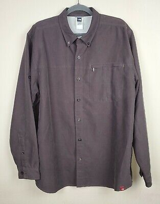 The North Face Men's Brown Heavyweight Roll-Up Sleeves Buttoned Shirt sz XL