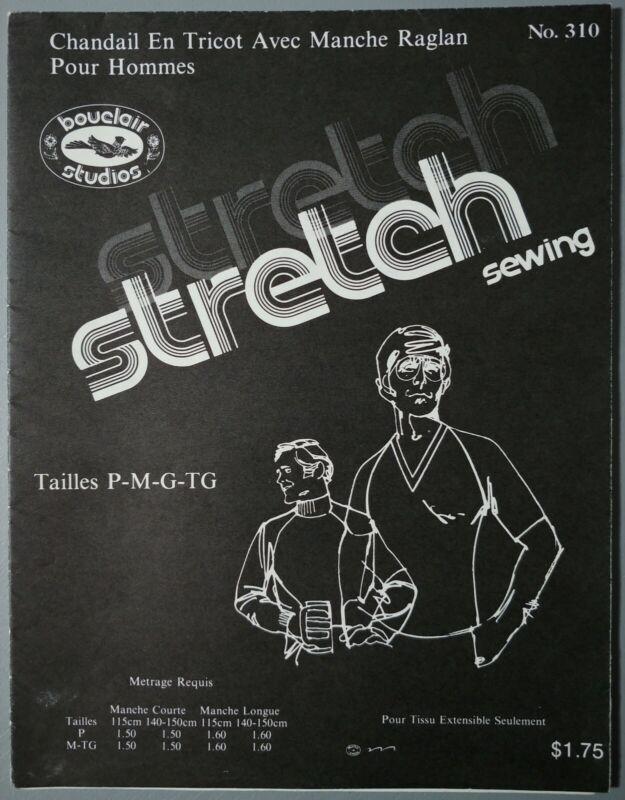 1972 BOUCLAIR Stretch sewing pattern #310 - Chandail tricot pour hommes Raglan