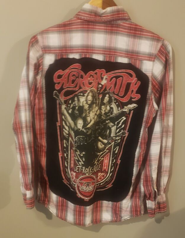 Aerosmith Let Rock Rule 2014 Tour red plaid shirt Red Camel 1931(small)