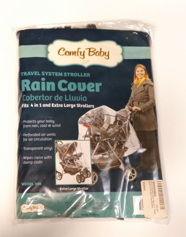 Comfy Baby Extra Large Rain Cover Vinyl Travel System Stroller Cover Protector