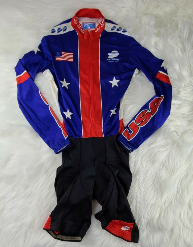 Vintage USA performance OFFICIAL Cycling Jersey one piece  SZ M FAST SHIPPING 💨