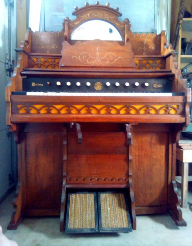 Antique William Sames Pump Organ. Circa 1900. Original patina, beautifully aged