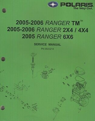 New Oem 2006 Polaris Ranger 500 Tm 2X4 4X4 Repair Service Manual 9920214