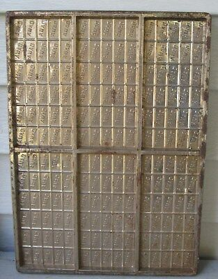 6 Each 6' Sections - ANTIQUE STEEL CHOCOLATE MOLD W/6 SECTIONS, 30 SEPARATIONS IN EACH FAMA INSCRIBED