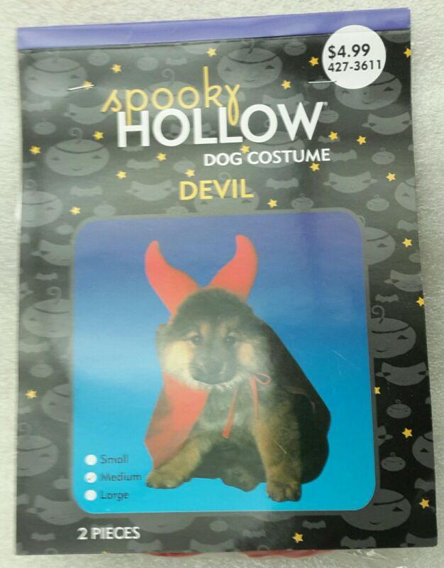 NEW Spooky DEVIL DOG COSTUME 2 pcs HORNS & CAPE Small to Medium