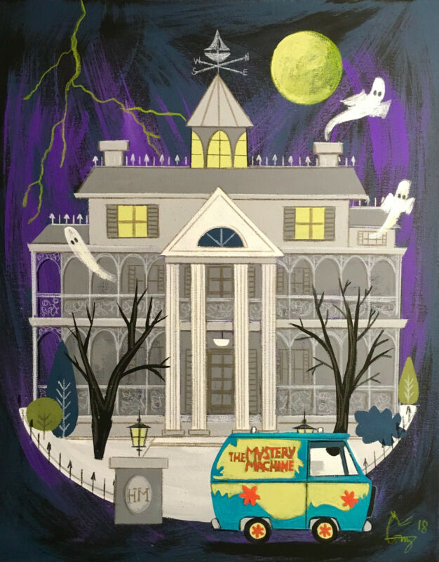 EL GATO GOMEZ RETRO DISNEY DISNEYLAND HAUNTED MANSION SCOOBY DOO
