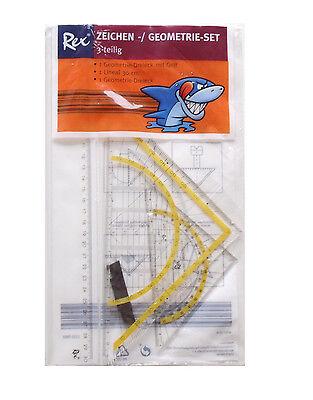 Rex Zeichen und Geometrie Set 3-Teilig 2x Dreick groß/klein 1 Lineal 30cm