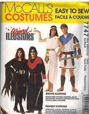 7747 Uncut Mccalls Muster Halloween Kostüme Sensenmann Cleopatra Mark Antony