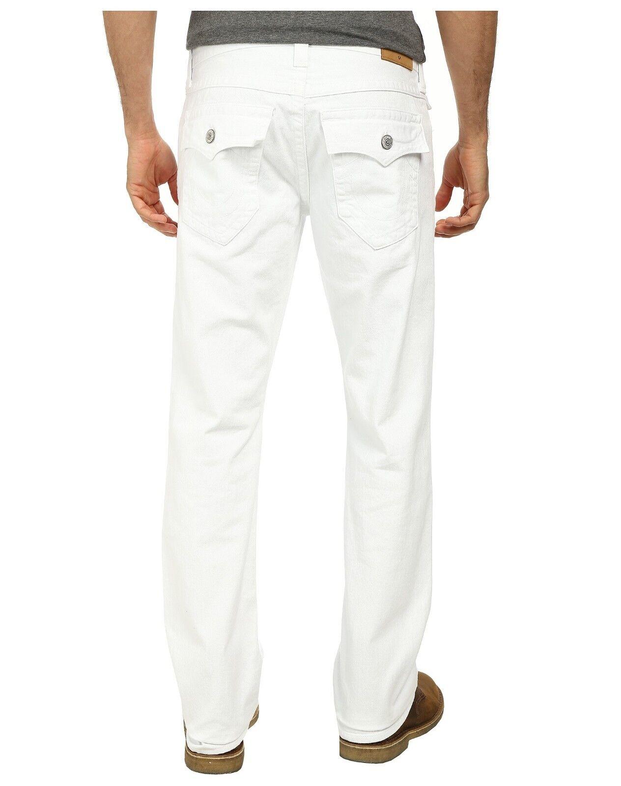 Men's True Religion Brand Ricky Optic White Straight Leg Jeans Pants New