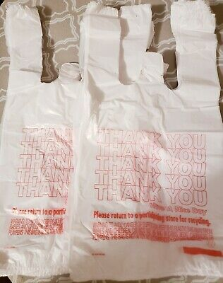 New 2pk-80ct Small Plastic T-Shirt Thank You Carry Out Bags-7