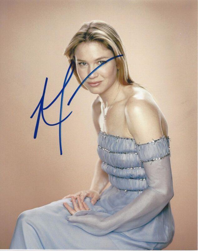 ACTRESS RENEE ZELLWEGER SIGNED JERRY MAGUIRE 8X10 PHOTO COA BRIDGET JONES DIARY