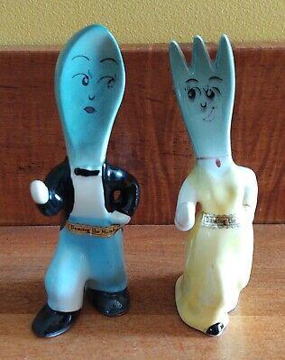Vintage Fork & Spoon Dancing the Mambo Salt & Pepper Shakers Japan Rare