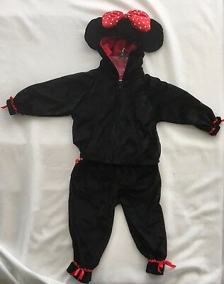 Minnie Mouse Jacket For Toddlers (Disney Store Minnie Mouse Black Jacket w/ Pants Outfit for 12 Month Toddler)
