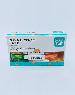 Pen Gear Correction Tape Correction Tape .2x19.7ft 10pk. White Out