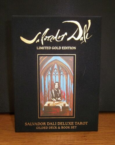 Salvador Dali Deluxe Gilded Tarot Deck & Book Set Limited Gold Edition - Sealed
