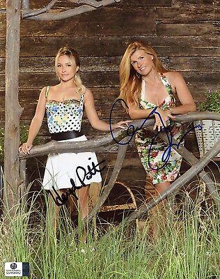 Hayden Panettiere   Connie Britton Signed Ga Coa 8X10 Nashville Photo Auto Jsa