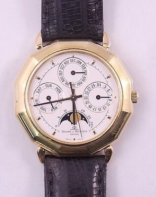 Baume & Mercier 18K Yellow Gold Triple Date Moonphase Watch 87212 (#3090)