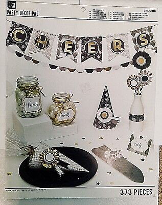 Easy Party Decorations (CHEERS PARTY DECOR KIT FUN EASY TO USE DIY COMPLETE CRAFTING KIT BANNERS)