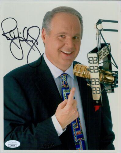 Rush Limbaugh Conservative Radio Host Signed 8x10 Matte Photo JSA Authenticated