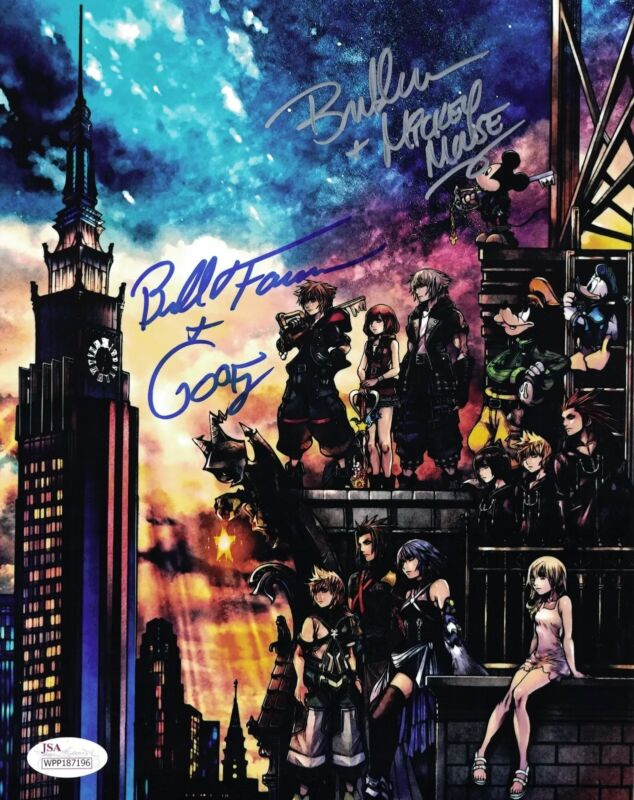 KINGDOM HEARTS 3 Signed BRET IWAN & BILL FARMER 8x10 Photo Autograph JSA COA WPP