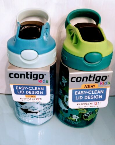 2pk deal Contigo kids BEST design easy clean spill proof wat