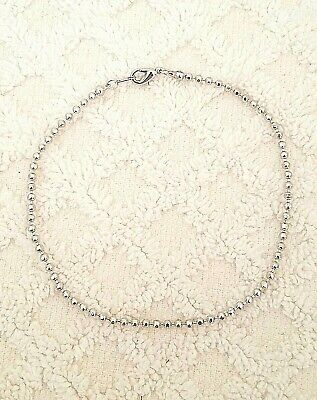 Rhodium Plated 9 Inch Faceted Beads Chain Ankle Bracelet Women Anklet Foot Chain ()