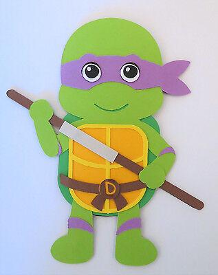 Ninja Turtle Crafts (TMNT Ninja Turtle Donatello Paper Doll Paper Die Cut Scrapbook)