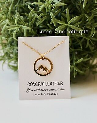 Mountain necklace- Graduation necklace- mountain pendant- Graduation gift](Graduation Necklaces)