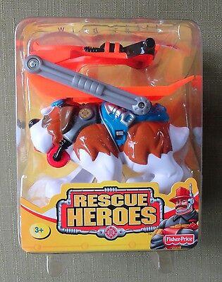 NIB Unopened Fisher Price Rescue Heroes Wind Chill St. Bernard Figure