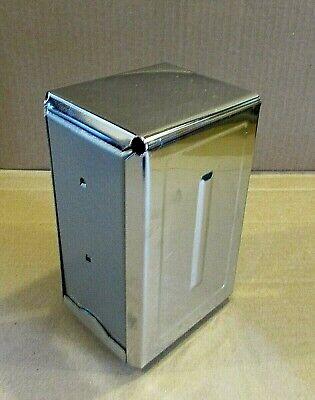 O.b. Vintage Chrome Steel 4x7 Restaurant Ware Diner Cafe Napkin Holder Free Sh