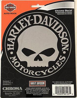 Harley-Davidson Willie G Skull Chrome Classic Graphix Sticker Decal NEW
