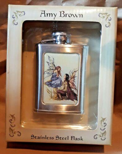 2006 Amy Brown Always 3OZ Stainless Steel Flask Fairy Love Romantic NIB