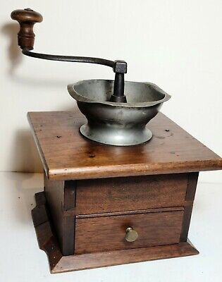 in great vintage condition Kitchen decor collector, utensils FRENCH VINTAGE PEUGEOT woodenmetal coffee grinder mill
