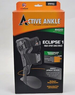 Active Ankle Eclipse 1 Rigid Multi-Sport Size Small Ankle Brace-New Opened Box
