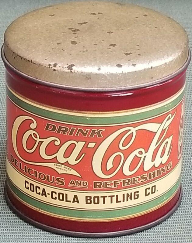 "3.5"" TALL COCA COLA ROUND TIN"