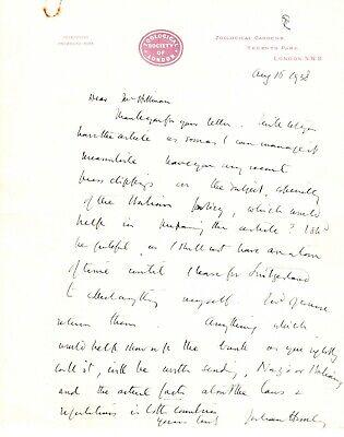 JULIAN HUXLEY legendary Biologist & Evolutionist autographed letter signed 1938