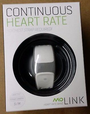 Mio Link Sport Wrist band Heart Rate Monitor (Small/Medium) Arctic White