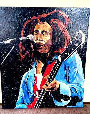 Bob Marley Mosaic by Ed Chapman Highly Collectable ~ Terrific Investment