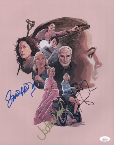 Sandra Oh & Jodie Comer KILLING EVE Cast X3 Signed 11X14 Autograph JSA COA Cert
