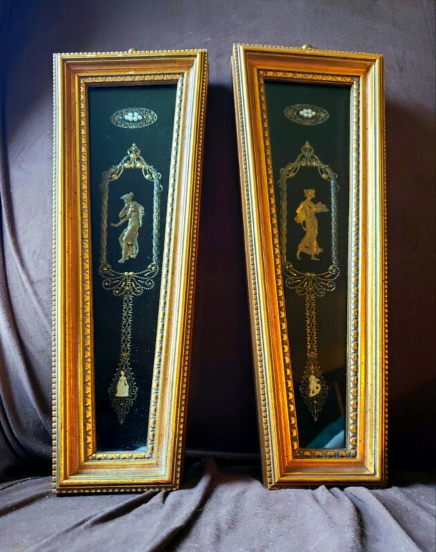 Andrew Kolb and Son style Roman Greek Gold Gilted Framed Pair  (2)