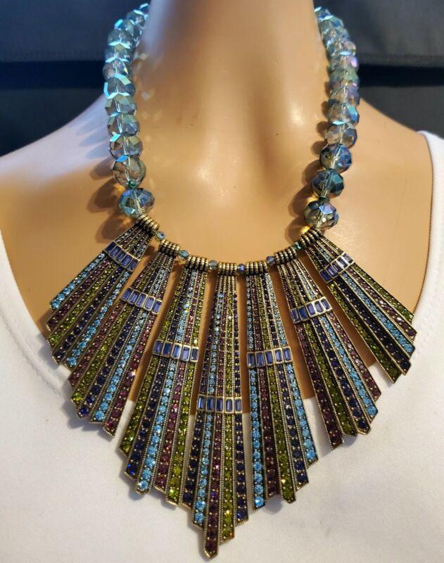 Heidi Daus Rays of Royalty Beaded Crystal Drop Necklace    Ret: $249.95