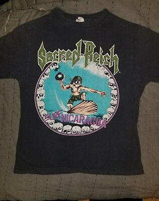 Sacred Reich Vintage 1988 Surf Nicaragua Adult medium Rock Metal Concert Shirt  image
