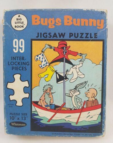 Vintage Bugs Bunny Jigsaw Puzzle 99 Pieces Big Little Book Elmer Fudd 1962