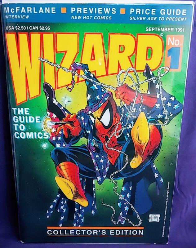 WIZARD #1 HIGH GRADE THE GUIDE TO COMICS MCFARLANE CLASSIC MAGAZINE KEY 1991🔥🔑