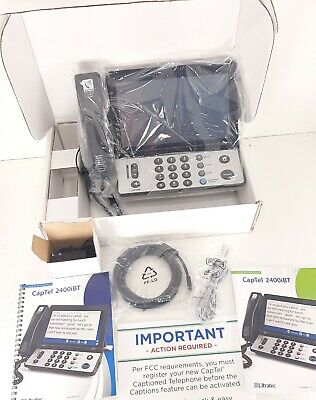 CapTel 2400iBT Touchscreen Bluetooth Caption Phone Hearing Impaired .