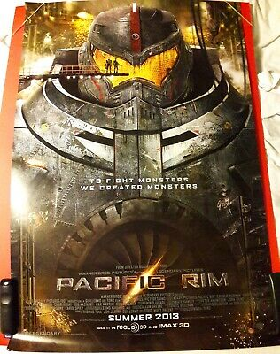 PACIFIC RIM 2 SIDED MOVIE THEATER RELEASE ORIGINAL POSTER RARE !!!, used for sale  USA